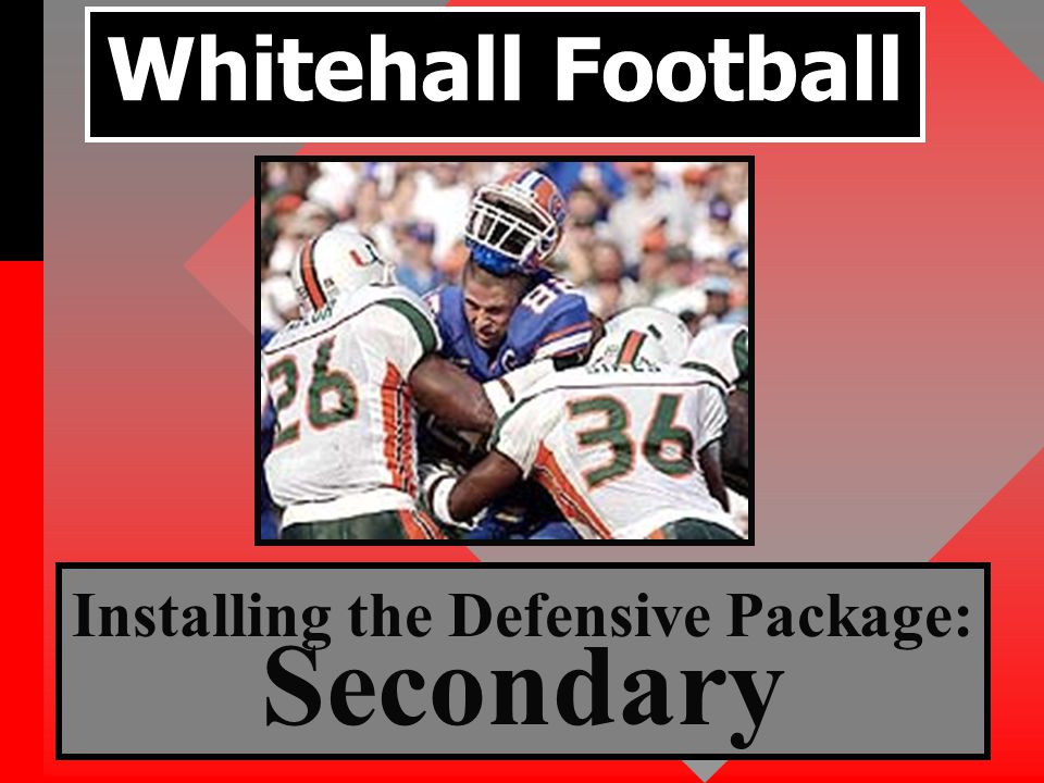 Defensive Foundation Alignment Assignment Swarm to the football Defensive Characteristics Necessary Attitude Concentration Effort