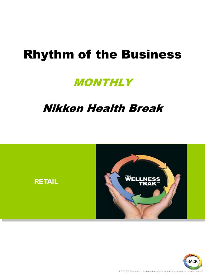 The Wellness Trak Monthly Rhythm Retailing is a KEY aspect in building a successful residual business.