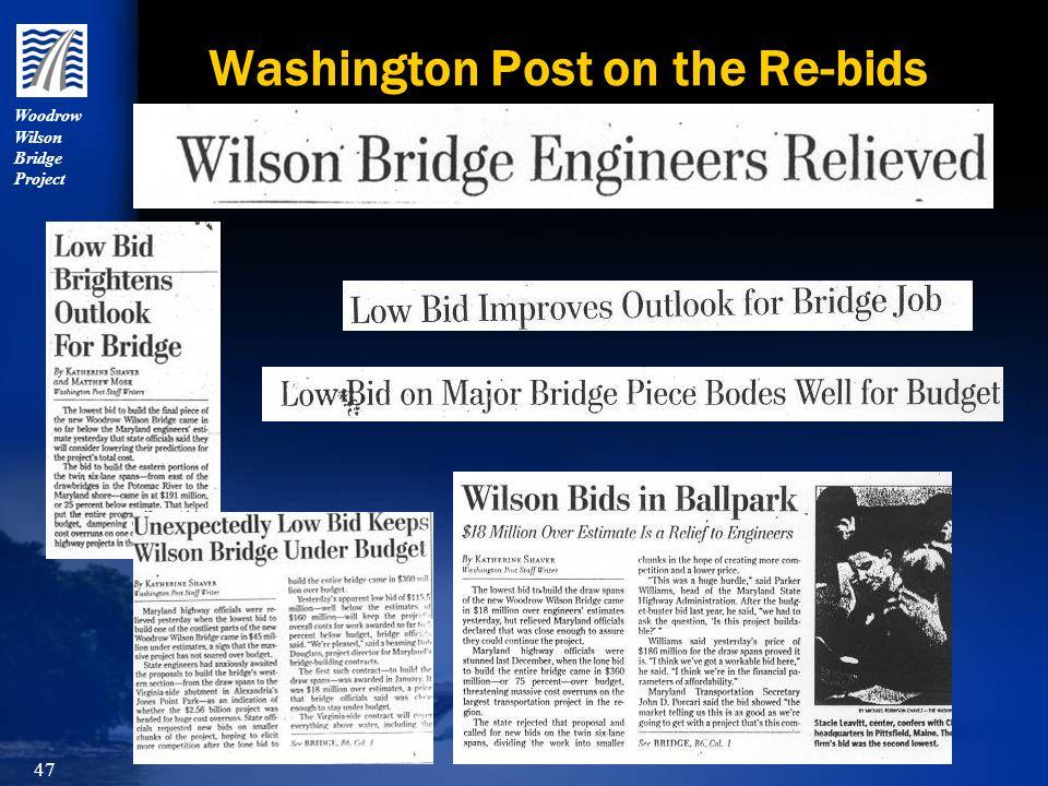 Woodrow Wilson Bridge Project 47 Washington Post on the Re-bids