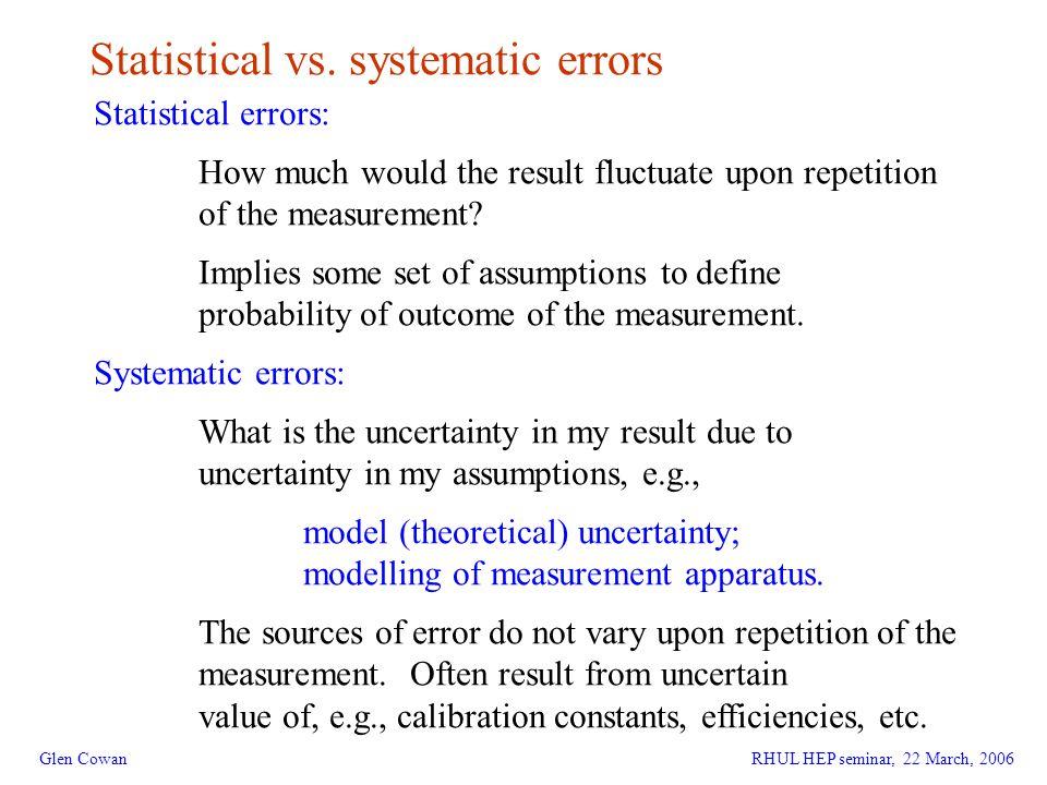 3 Statistical vs.