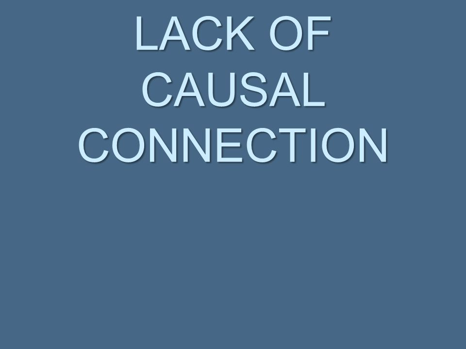 Causal Connection   A causal link must be shown between the alleged violator and the alleged nuisance.