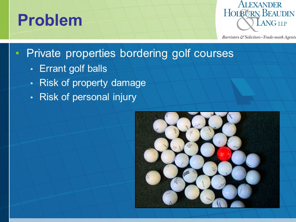 Issues What is the liability of the golf course.What legal sanctions could the golf course face.