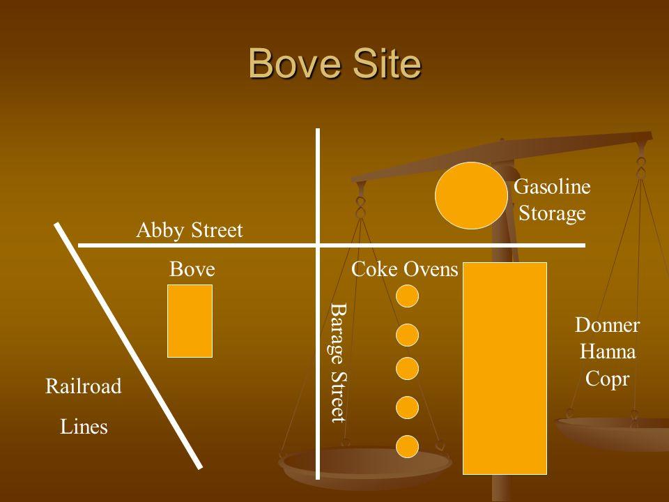 Bove Site Abby Street Barage Street Coke Ovens Donner Hanna Copr Gasoline Storage Railroad Lines Bove