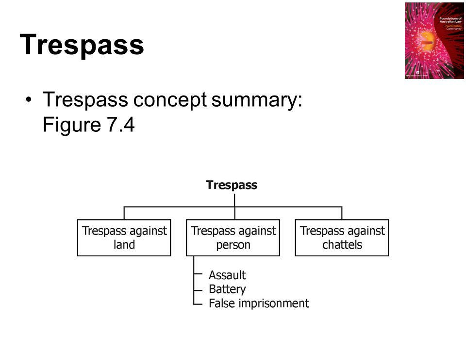 Trespass Trespass concept summary: Figure 7.4