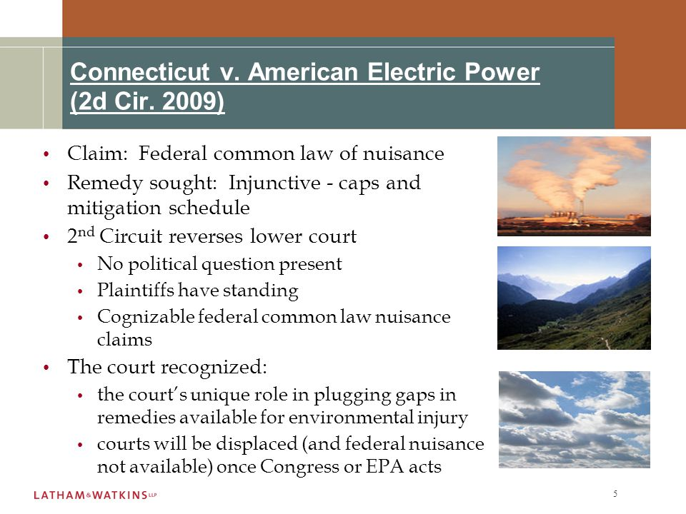 5 Connecticut v. American Electric Power (2d Cir.