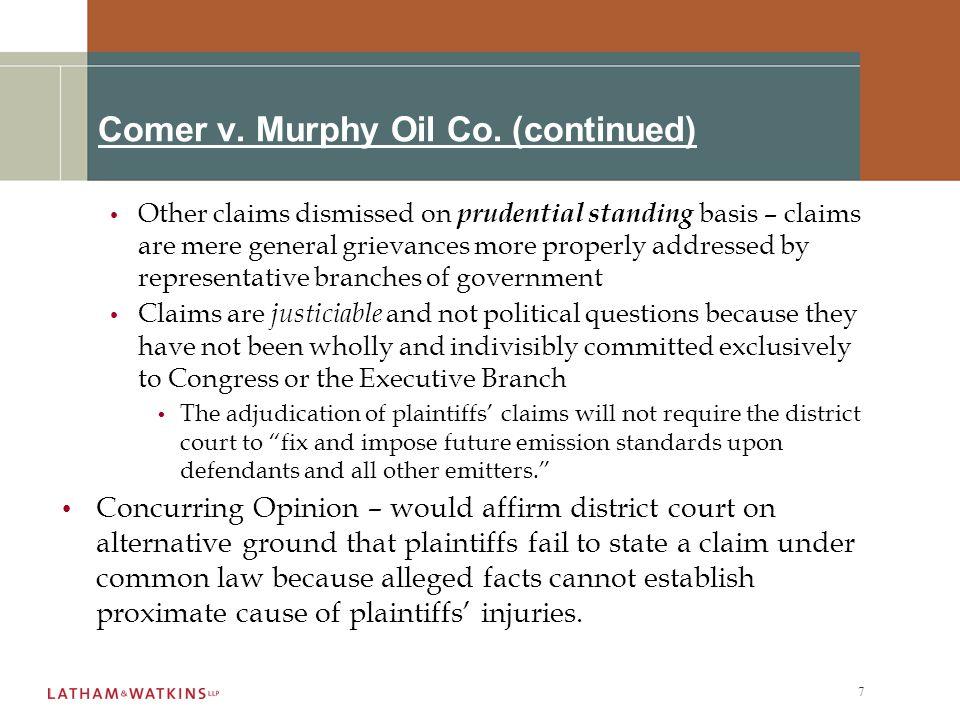 7 Comer v. Murphy Oil Co.