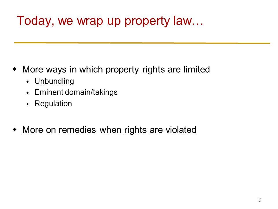 4  Property: a bundle of rights  Can you unbundle them.