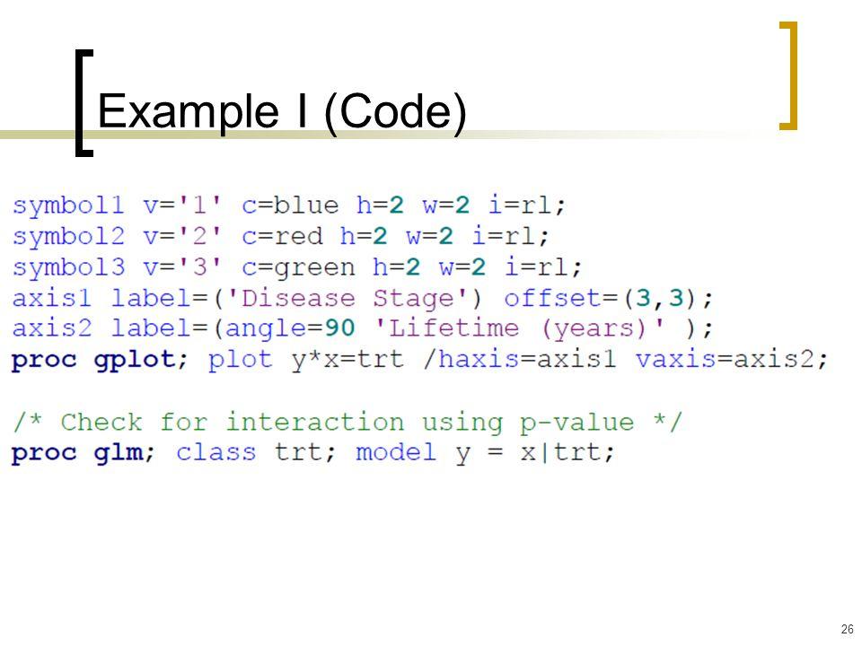 26 Example I (Code)