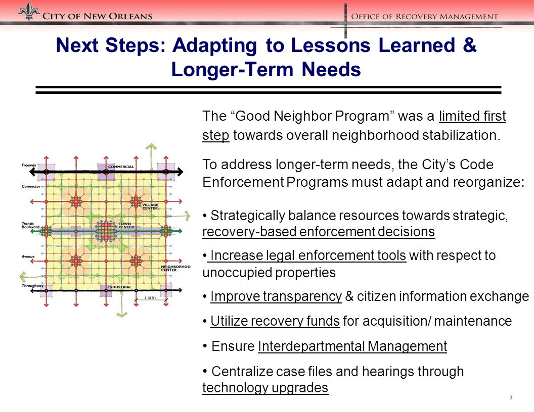 16 Next Steps: Expanding Designated Recovery Areas to Identify Nuisance & Blighted Unoccupied Property Concentrations
