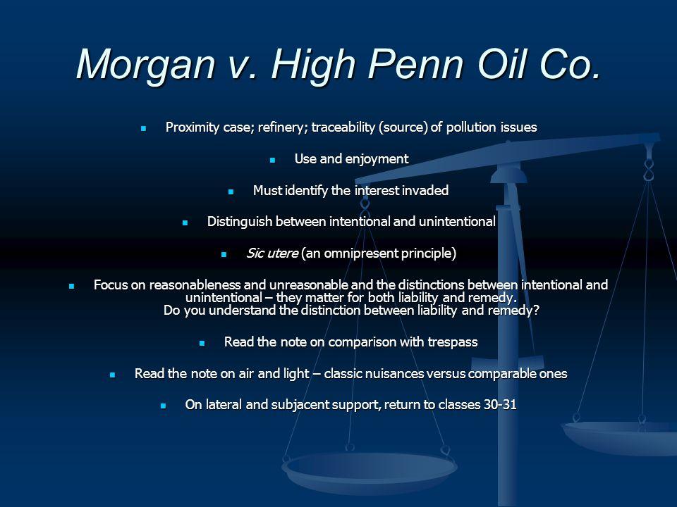 Morgan v. High Penn Oil Co.