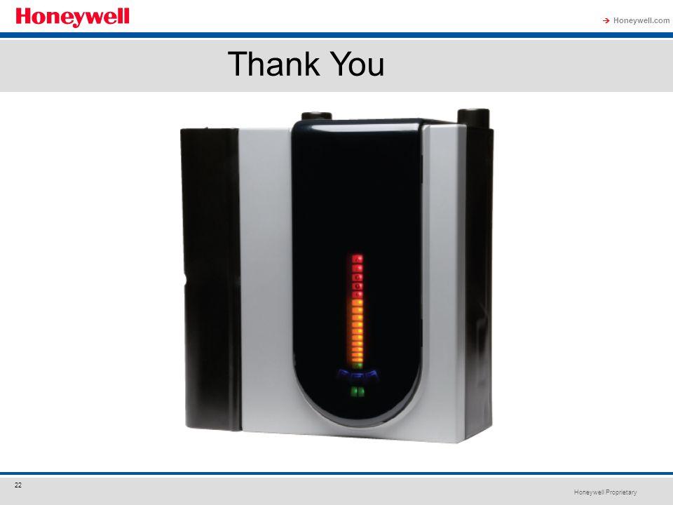 Honeywell Proprietary Honeywell.com  22 Thank You