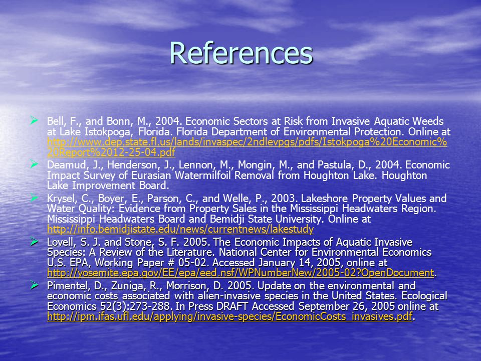 References   Bell, F., and Bonn, M., 2004.