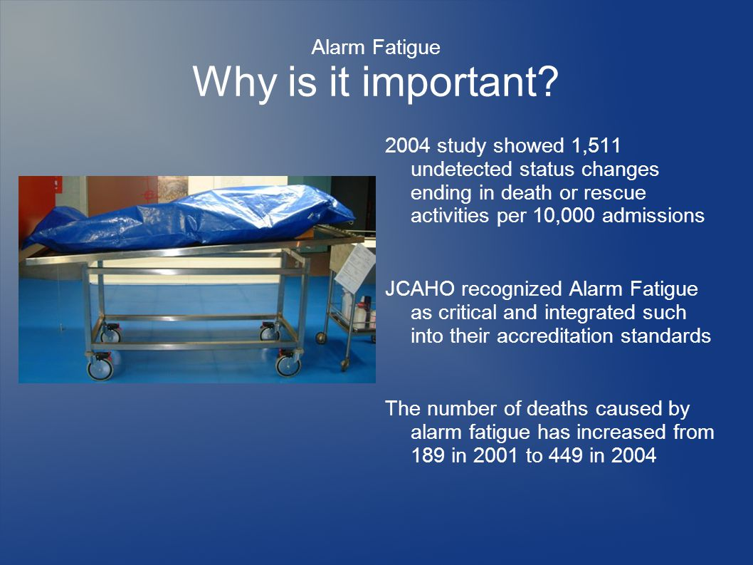 Alarm Fatigue Why is it important.