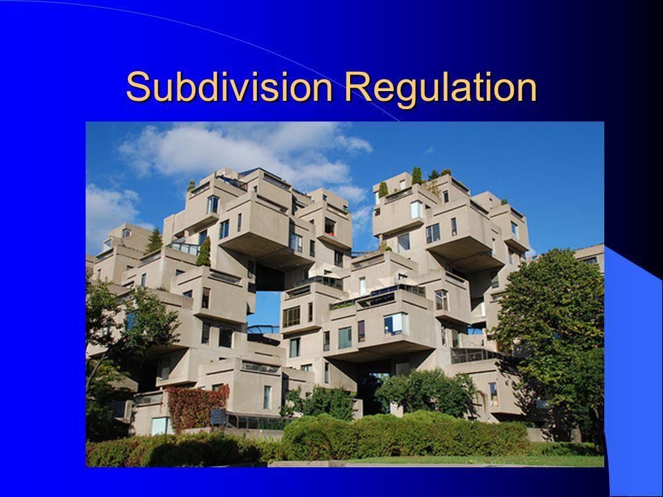 Subdivision Regulation