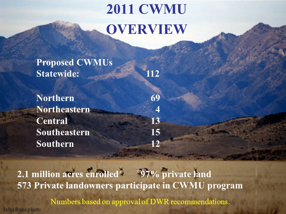 LANDOWNER ASSOCIATION VOUCHER RECOMMENDATIONS 2011 STATEWIDE OVERVIEW