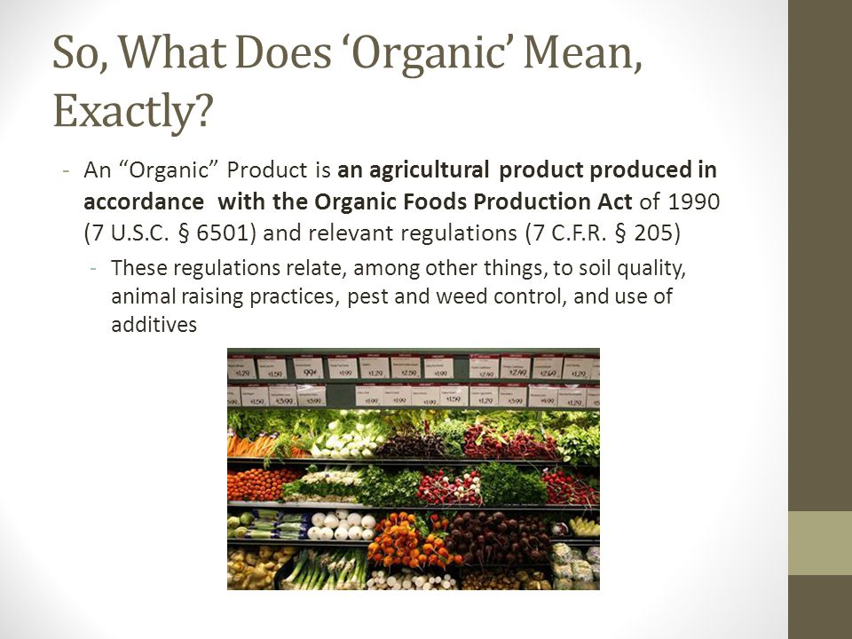 So, Wait...Organic Farms Use Pesticide.