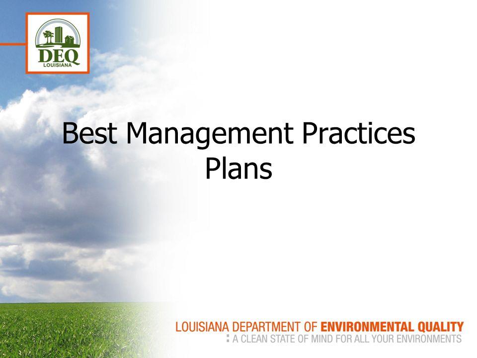 Best Management Practices Plans