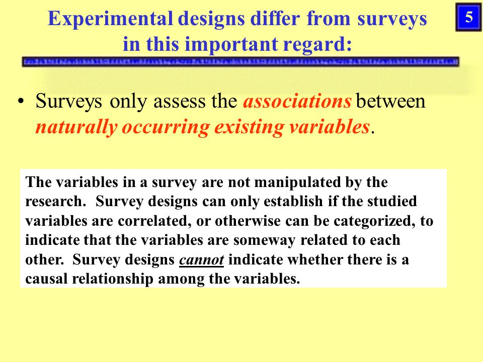 25 Threats to Internal Experimental Validity Instrumentation –Changing the measuring instruments from the pre-test to the post-test, or the manner by which the instruments are administered (used) confounds the results.