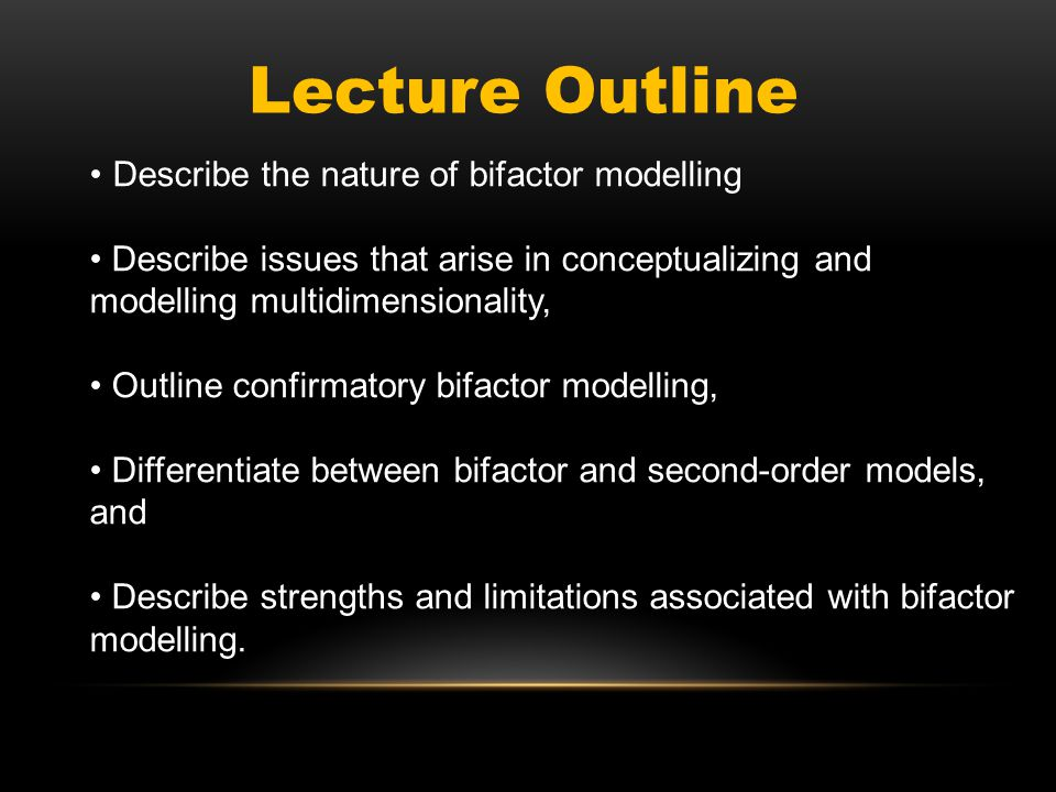HIGHER ORDER MODEL The third type of structural model normally considered is a higher order model