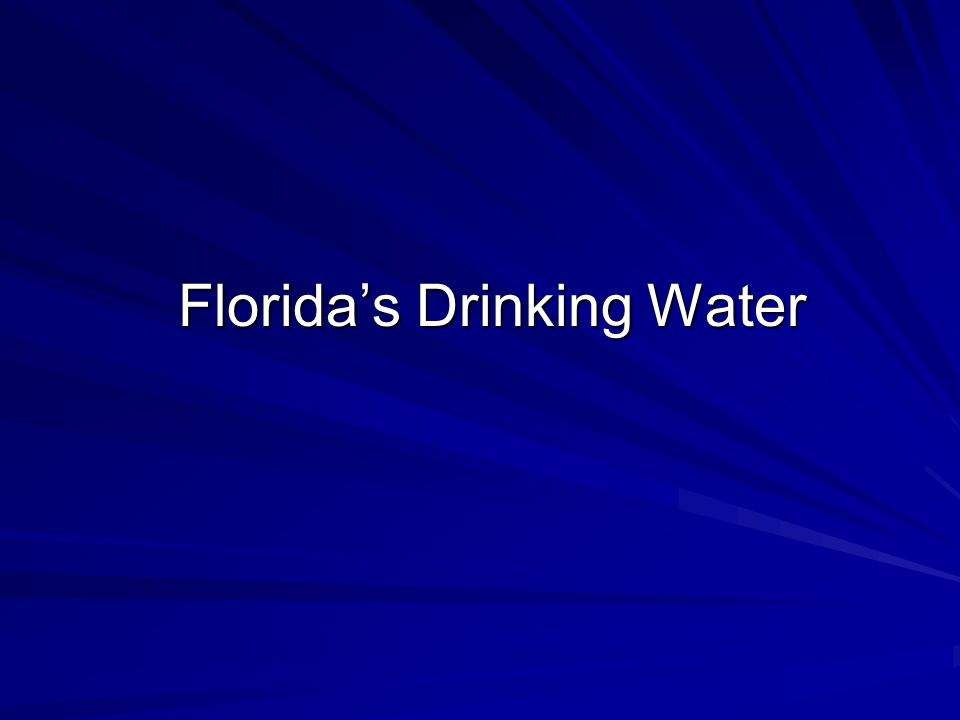 Florida's Drinking Water