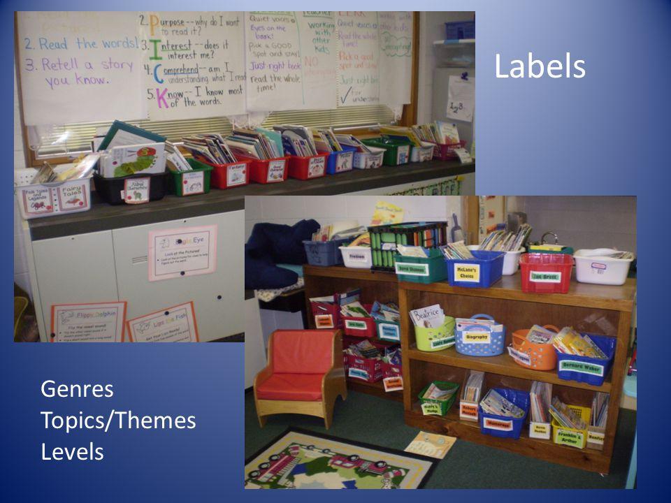 Labels Genres Topics/Themes Levels