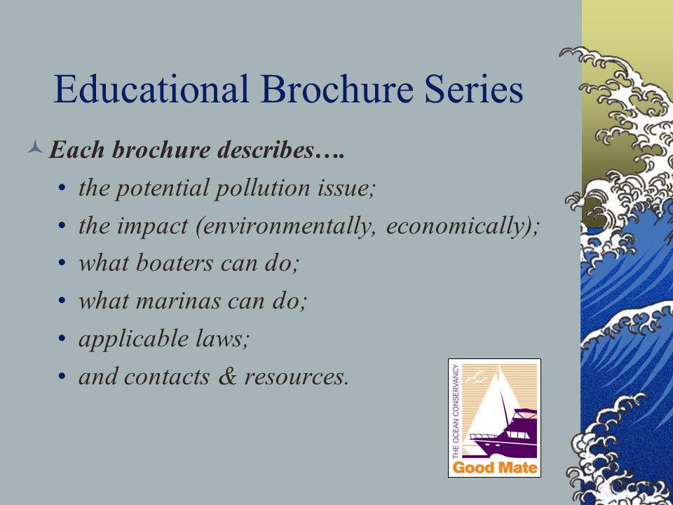 Educational Brochure Series Each brochure describes….