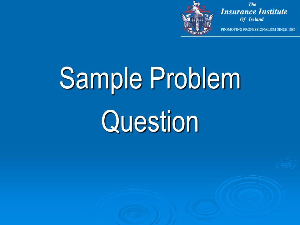 Sample Problem Question