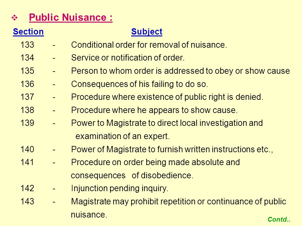  Urgent Cases of Nuisance or Apprehended Danger : Section Subject 144 -Power to issue order in urgent cases of nuisance or apprehended danger.