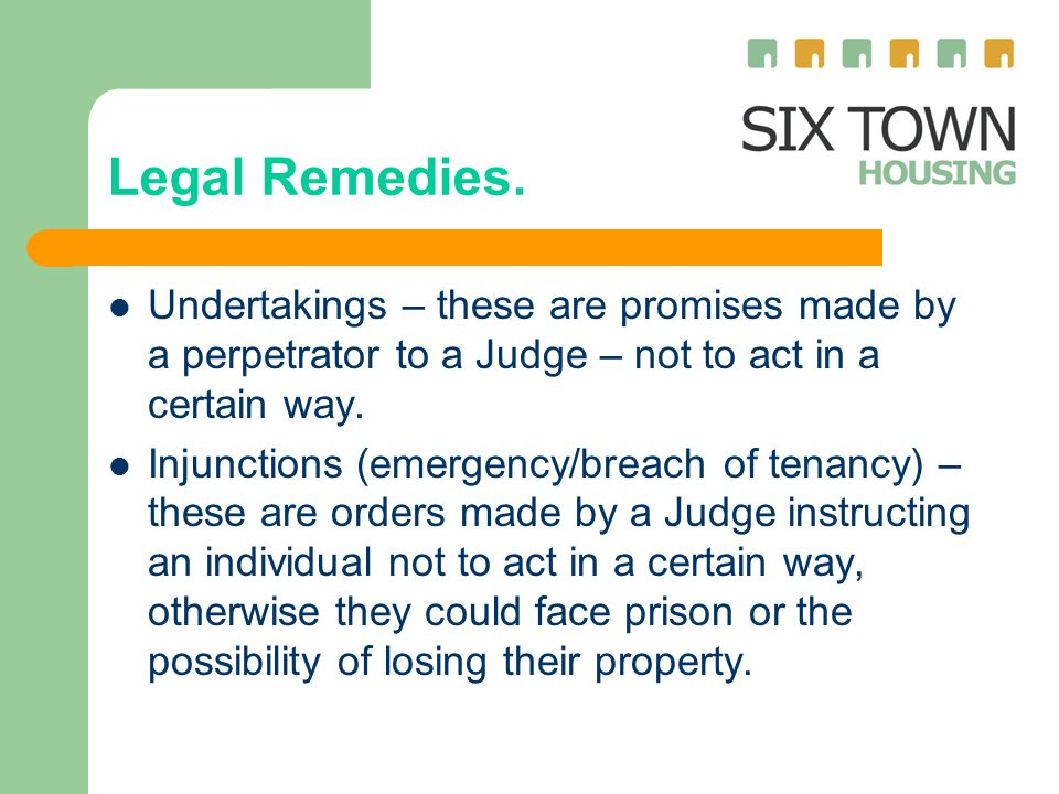 Legal Remedies.