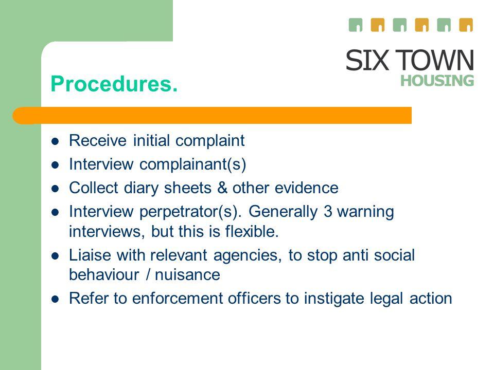 Procedures.