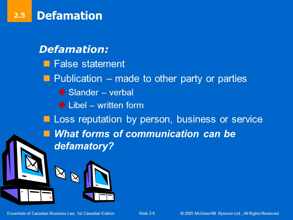 Essentials of Canadian Business Law, 1st Canadian EditionSlide 1-10 © 2005 McGraw-Hill Ryerson Ltd., All Rights Reserved.