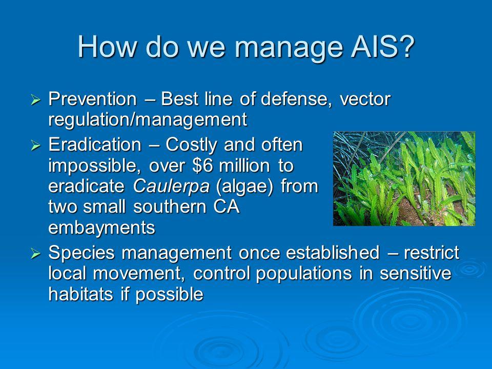 How do we manage AIS.