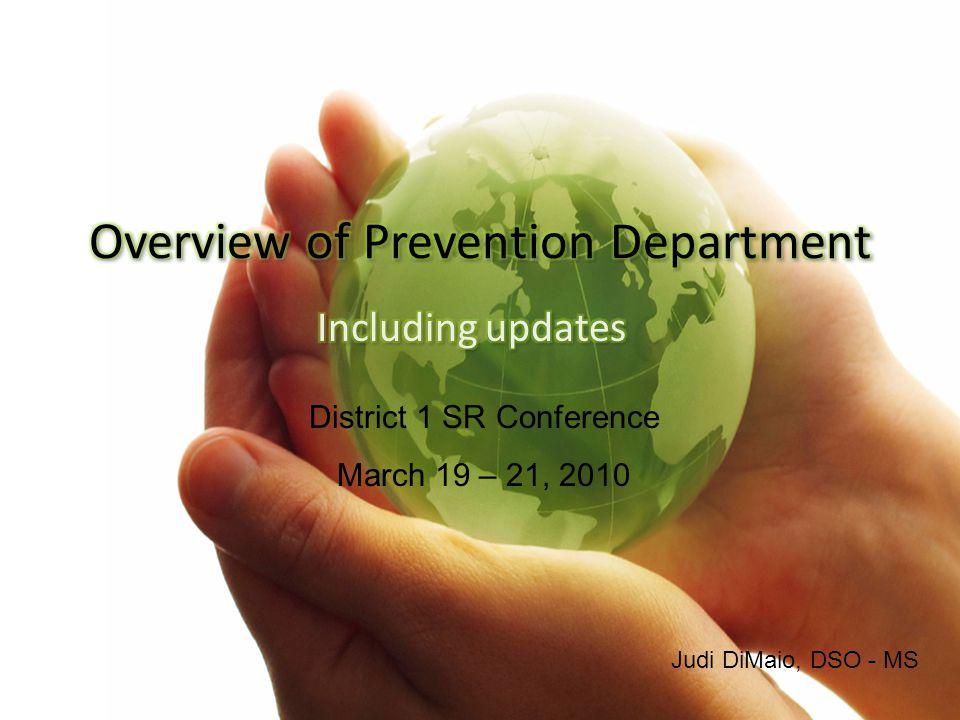 District 1 SR Conference March 19 – 21, 2010 Judi DiMaio, DSO - MS