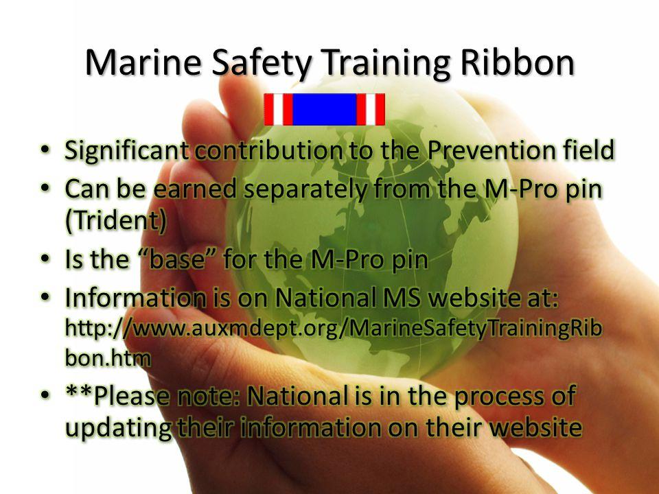 Marine Safety Training Ribbon