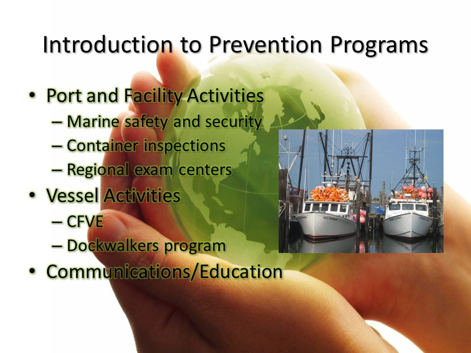 Introduction to Prevention Programs