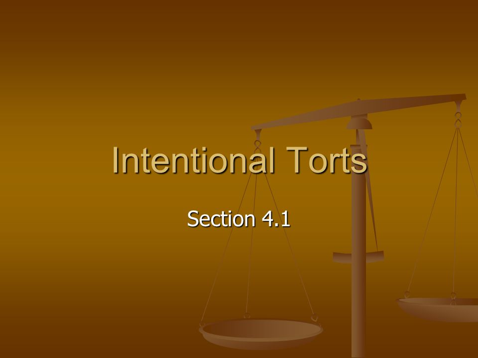 What You'll Learn How to tell the difference between a crime and a tort How to tell the difference between a crime and a tort How to explain the nature of tort law How to explain the nature of tort law How various torts can be committed How various torts can be committed How to define various intentional torts How to define various intentional torts