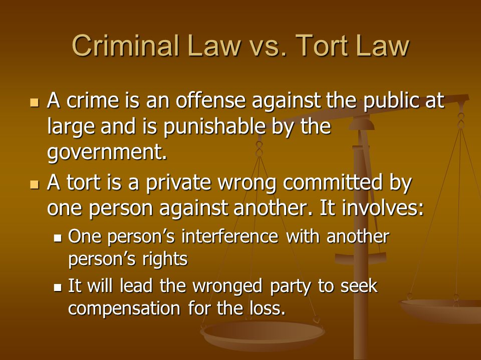 Criminal Law vs.