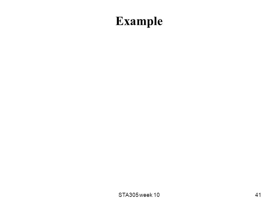 Example STA305 week 1041