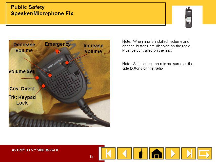 ASTRO ® XTS™ 5000 Model II 13 RF Adapter (RFA) To install the RF adapter (RFA): 1.Turn the radio off.