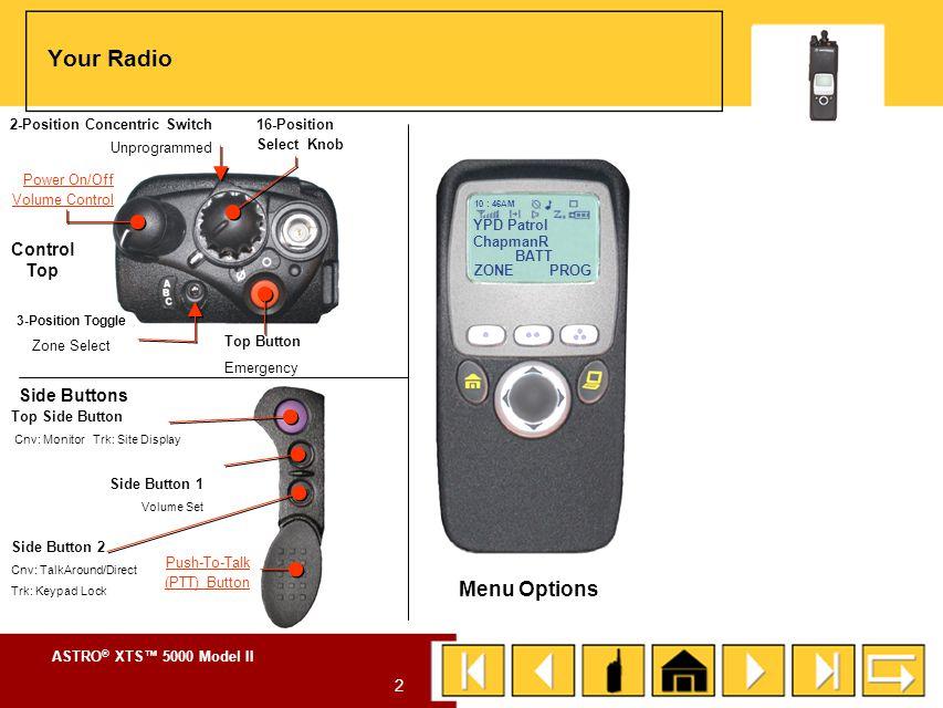 ASTRO ® XTS™ 5000 Model II 1 Cover Yuma Regional Communications System ASTRO ® XTS TM 5000 Model II Digital Portable Radio