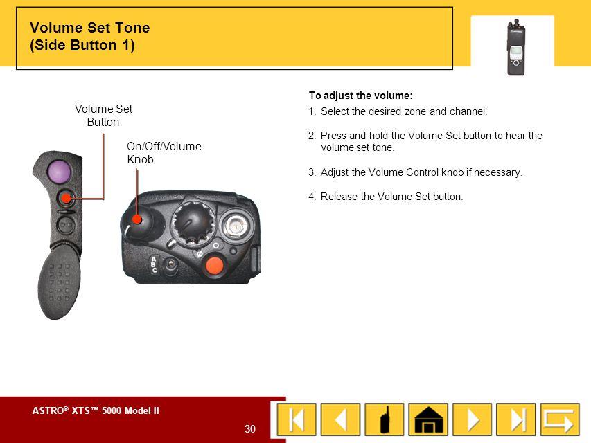 ASTRO ® XTS™ 5000 Model II 29 SIDE BUTTON 1