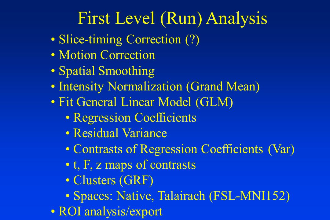 First-Level Analysis Results