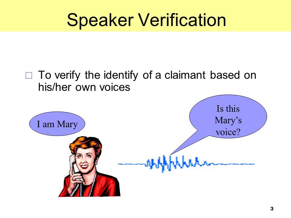 14 Outline GMM-UBM for Speaker Verification GMM-SVM for Speaker Verification Data-Imbalance Problem in GMM-SVM Utterance Partitioning for GMM-SVM Results on NIST SRE