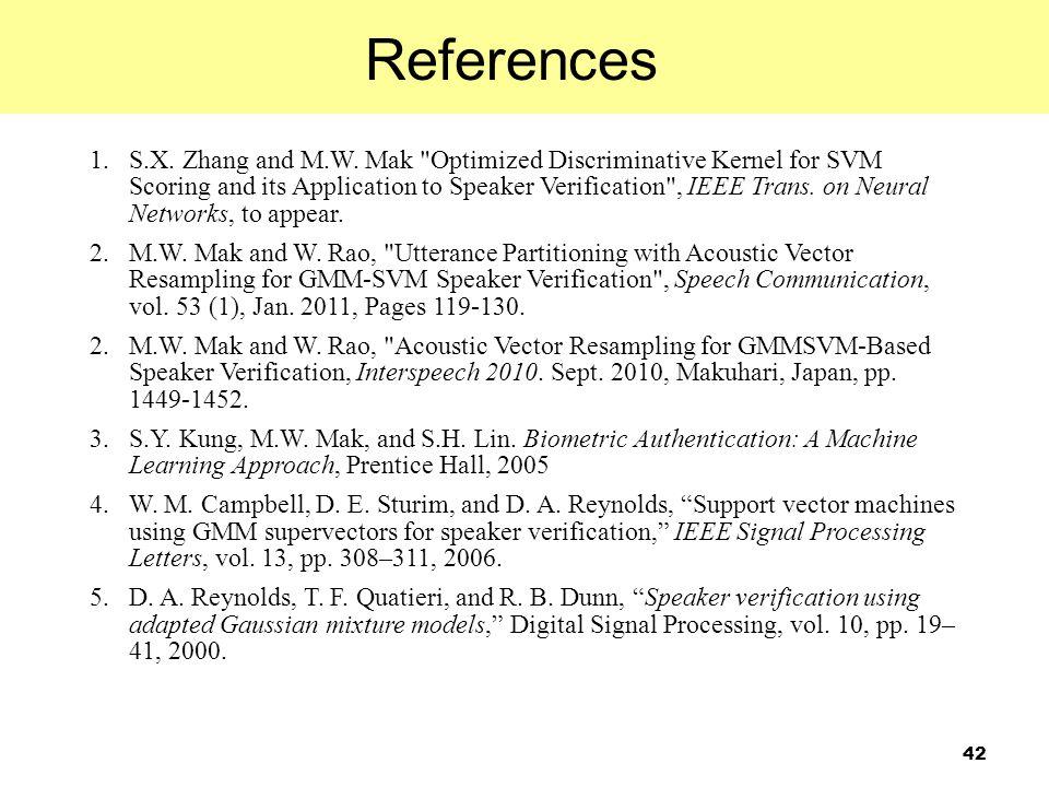 42 1.S.X. Zhang and M.W. Mak