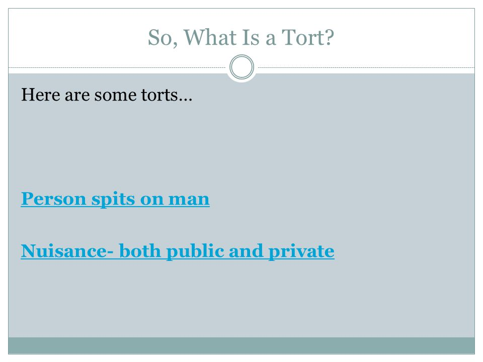 Negligent Torts: Duty Can you think of examples of due care that each of the following people must exercise?: 1.