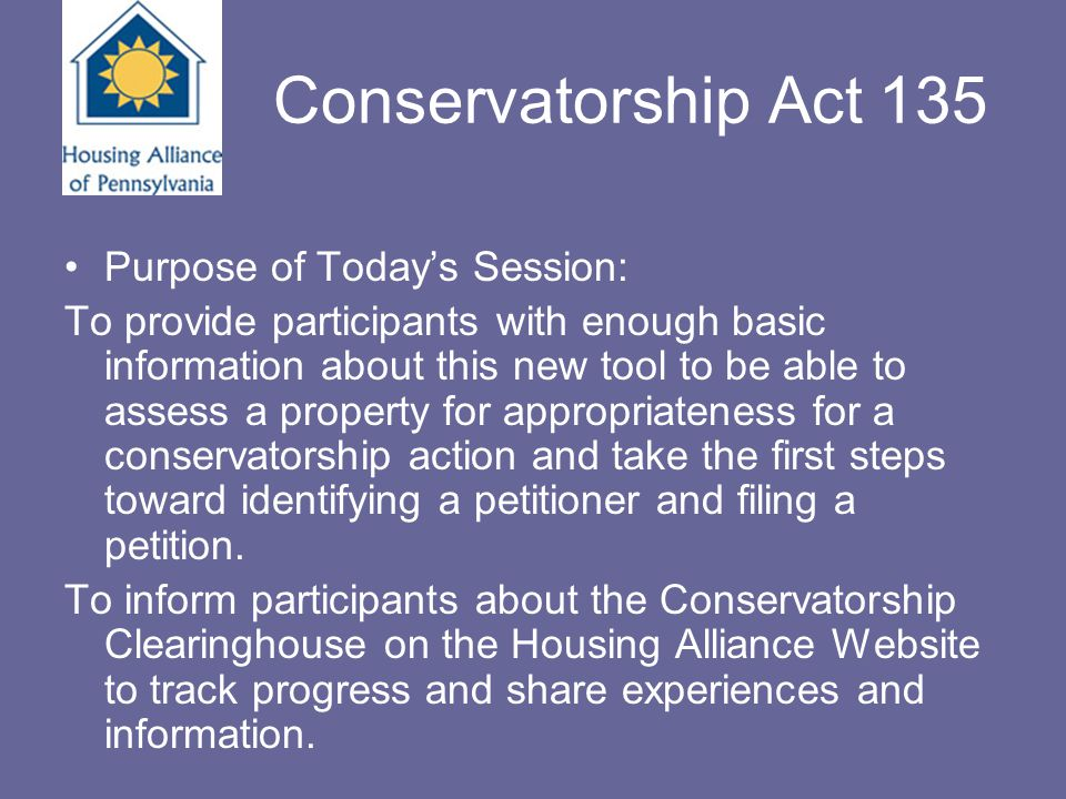 Conservatorship Training Presenters Martin J.