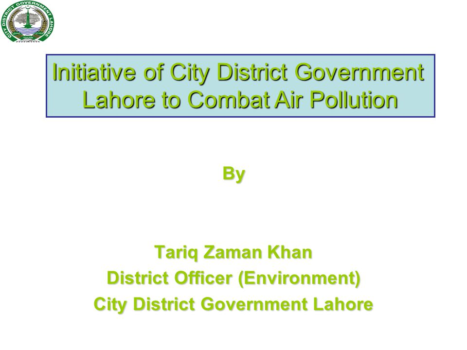 Action Plan submitted to the Lahore High Court under Lahore Clean Air Commission.