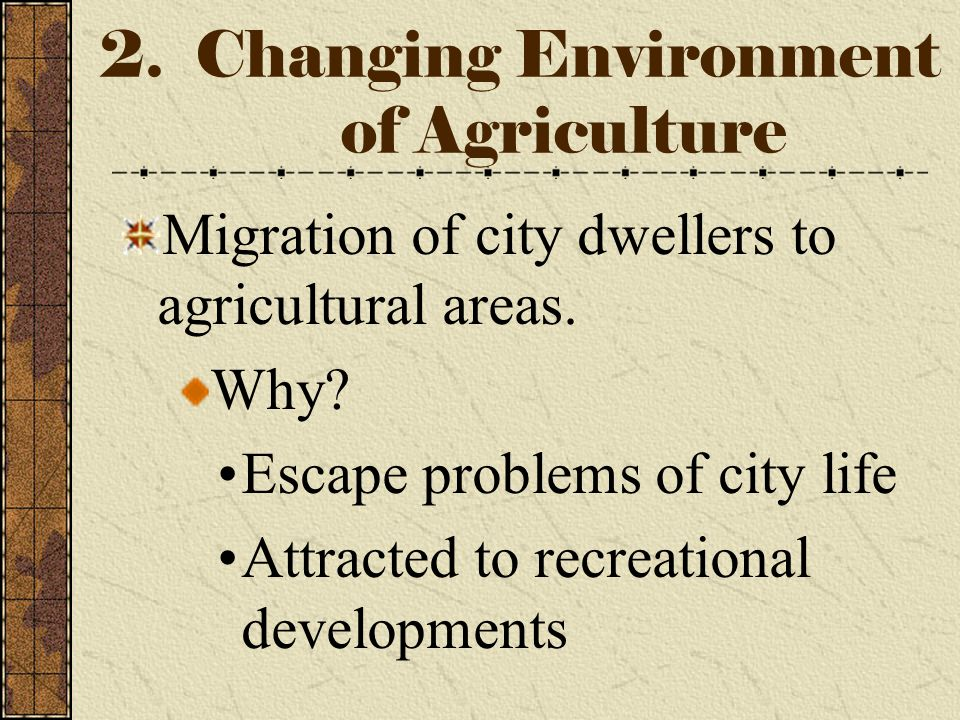 1. Changes in Livestock Production Trend toward larger livestock operations Use of large livestock confinement systems such as feedlots