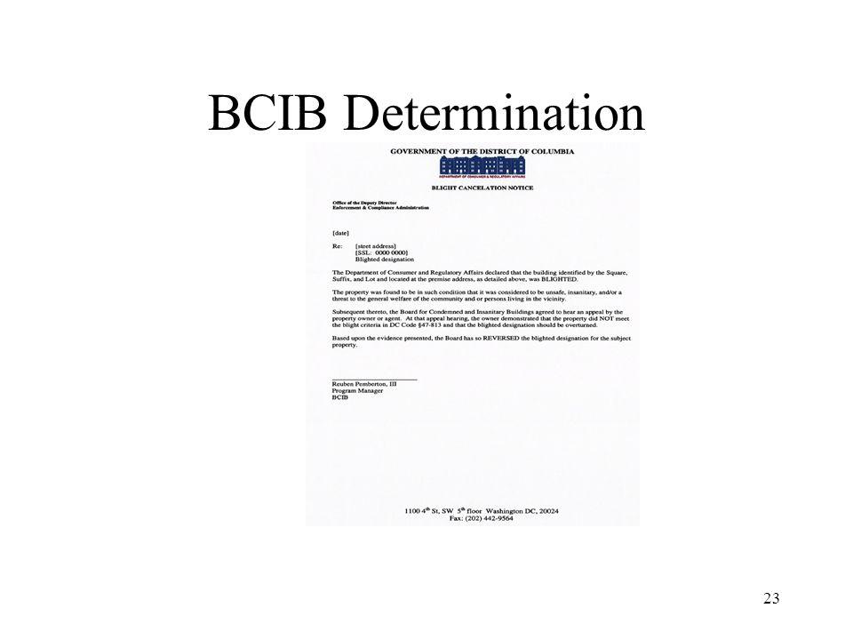 23 BCIB Determination