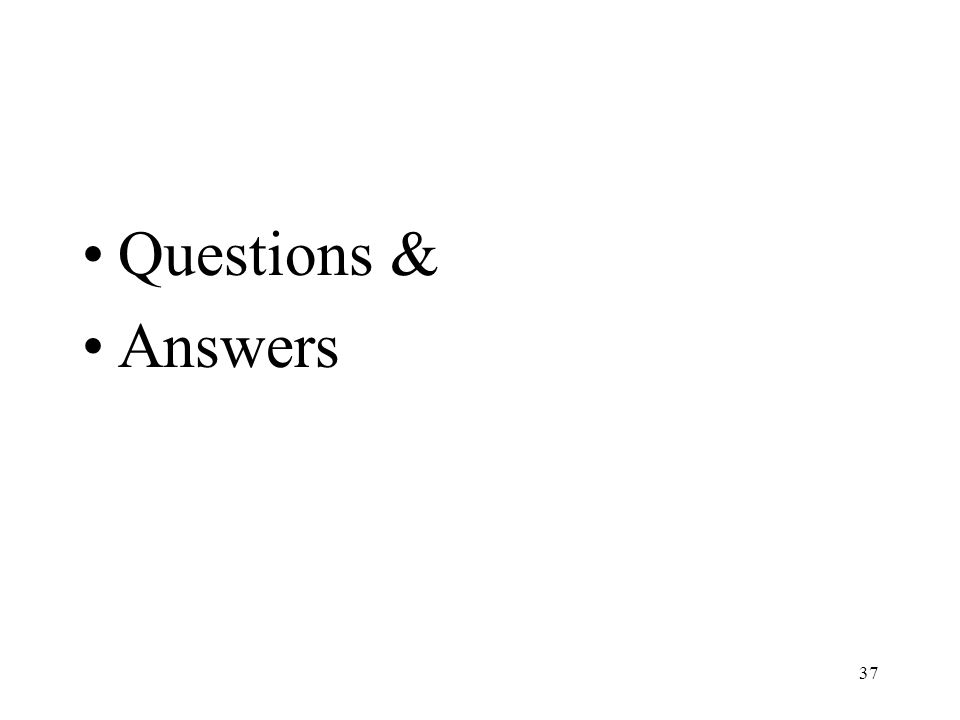 37 Questions & Answers